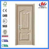 Porte en bois intérieure simple de mélamine de Prehung de porte de pouce