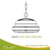 Indicatore luminoso della baia del magazzino LED della fabbrica di Hbufo 50W 100W 150W 200W alto