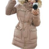 Повелительниц зимы напольная пальто куртка вниз с воротом шерсти