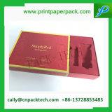 Caja de embalaje de la cartulina de oro del regalo rojo de papel de lujo del sellado