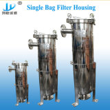 Aço inoxidável Saco único alojamento do filtro