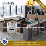 3 sièges forme de L'Office de station de travail du personnel de cluster de partition (HX-8N2635)