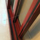 Liga de alumínio cor madeira porta corrediça com churrasqueiras decorativas