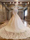 Линия платье венчания шнурка