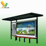 Arrêt de bus actionné solaire du prix de gros DEL annonçant l'étalage