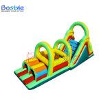 膨脹可能な障害、子供のためのスライドが付いている膨脹可能なトンネルのゲーム