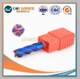 HRC45~70 carburo de tungsteno 4 Flautas Extremo plano molinos para herramienta de corte