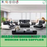 Sofa en bois moderne de cuir véritable de meubles de bureau