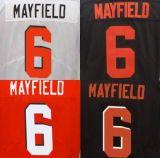 Beste Douane Geborduurde #6 Baker Mayfield Stitched Limited Jersey