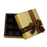 Colorida tapa personalizada y de la base de papel simplemente Chocolate caja con cinta arco