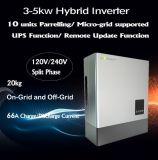 la fase spaccata 3-5kw ha prodotto con 48V l'invertitore ibrido della corrente di carica della batteria 66A per noi la griglia