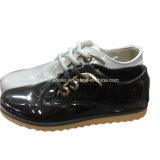 Las mujeres europeas Putent inyección de cuero de mujer zapatos casual zapatos de ocio (YJ18515-3)