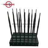 2018 emittente di disturbo fissa del telefono delle cellule di versione della fascia di obbligazione dell'allarme dell'antenna piena aggiornata dell'emittente di disturbo 14; GPS, WiFi, VHF, frequenza ultraelevata, 4G, 315, 433, stampo di Lojack