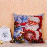 Рождественские украшения Санта Клаус снежную бабу хлопок постельное белье фантазии подушки сиденья