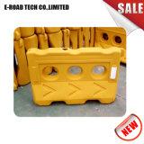 Branca e amarela de Segurança Vermelha Barreira de tráfego com água
