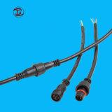 2pin 3pin 4 Pinの電気設備のための防水ケーブルコネクタ