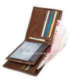 Retro 브라운 여행 간결 남자 진짜 가죽 지갑, 지퍼 동전 지갑을%s 가진 남자 사업 신용 카드 홀더 지갑