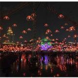 Feiertags-Ereignis-im Freien Weihnachtsdekoration-Faser-hängende helle Optikquallen