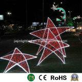 3D Motif de la luz de Estrella de Navidad
