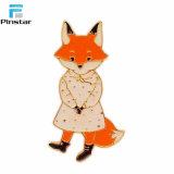 異なった動物はウサギFoxの金属の折りえりPinのように形づいた
