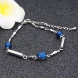 Мода ювелирные изделия из синего стекла Crystal очарование цепь браслет для женщин - Ювелирные изделия