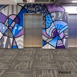 1/12 Viena PP nylon poliéster Tufted casa oficina alfombras alfombra alfombras modulares alfombras personalizadas de bucle de multinivel de PVC Volver Broadloom mosaico/alfombras de pared a pared