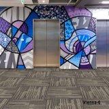 1/12 Viena Nylon poliéster PP tapetes tufados Office House Carpet Tapete Modular Multi-Level Tapete personalizado de Loop Back Broadloom PVC Mosaico/parede para tapetes de parede