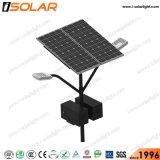 Stand Alone Brazo de doble lámpara de LED 80W Luz solar calle
