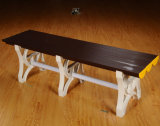 学校図書館のプラスチック腰掛けのベンチを休ませる新しいモデルかコーヒー