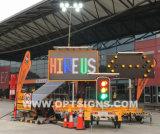 Il Ce di Optraffic ha certificato i segni portatili Rimorchio-Montati mobili ecologici del messaggio del LED
