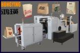 Bolsa de papel de alta velocidad de la máquina con la ventana de PP y 4 colores en línea