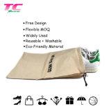 Multifuncional OEM Cordón promocional tejido de algodón Bolsa de zapata de viajes