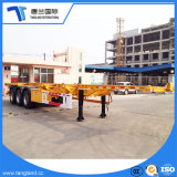 3 ejes contenedor de 40 toneladas de transporte de tipo esqueleto semi remolque con bloqueo