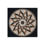 Asainの販売As07のための石造りの大理石のWaterjet円形浮彫りパターンモザイク・タイル