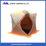 冬のキャンプのためのポップアップ氷釣テントはテントを引き出す
