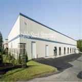 Costruzione prefabbricata dell'acciaio per costruzioni edili per il gruppo di lavoro del magazzino