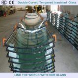 Vidrio templado curvado laminado para la construcción