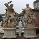 Statue en marbre sculpté Sculpture Sculpture sur pierre pour la décoration de jardin (sy-X1059)