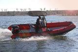 Aqualand 21feet 6.4m 늑골 구조 모터 배 또는 군 경비정 (RIB640T)