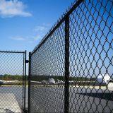 Treillis métallique de frontière de sécurité de maillon de chaîne