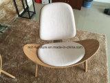 Presidenza di legno delle coperture dell'impiallacciatura di Wegner della replica del progettista della tappezzeria del tessuto