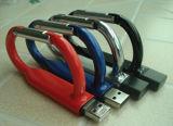 Disco flash USB metálica colorida com o logotipo personalizado