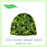 Sombrero promocional del Knit del invierno del telar jacquar del camuflaje de la manera