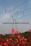 Megatro 1000kv tipo horizontal la sobrecarga de circuito único de la torre de transmisión