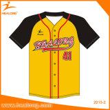 Base-ball Jersey d'équipe de sublimation personnalisé premiers par vêtements de sport de vente de Healong