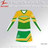 Pignon de la Chine Healong la fabrication de vêtements tout logo Sublimation filles Cheerleading robes