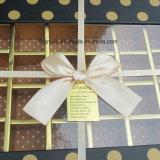 Rectángulo de gama alta del chocolate y del caramelo con la cinta y la ventana clara