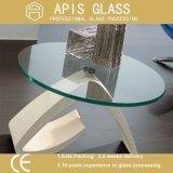 6mm-ホテルまたは家具のための12mm斜角を付けられた端テーブルトップの明白な緩和されたガラス