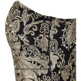 Платье выпускного вечера партии вечера шнурка вышивки женщин безрукавный