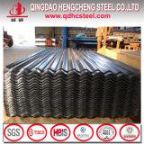 Feuille en acier ondulée de toiture de mesure de Hdgi SGCC 24